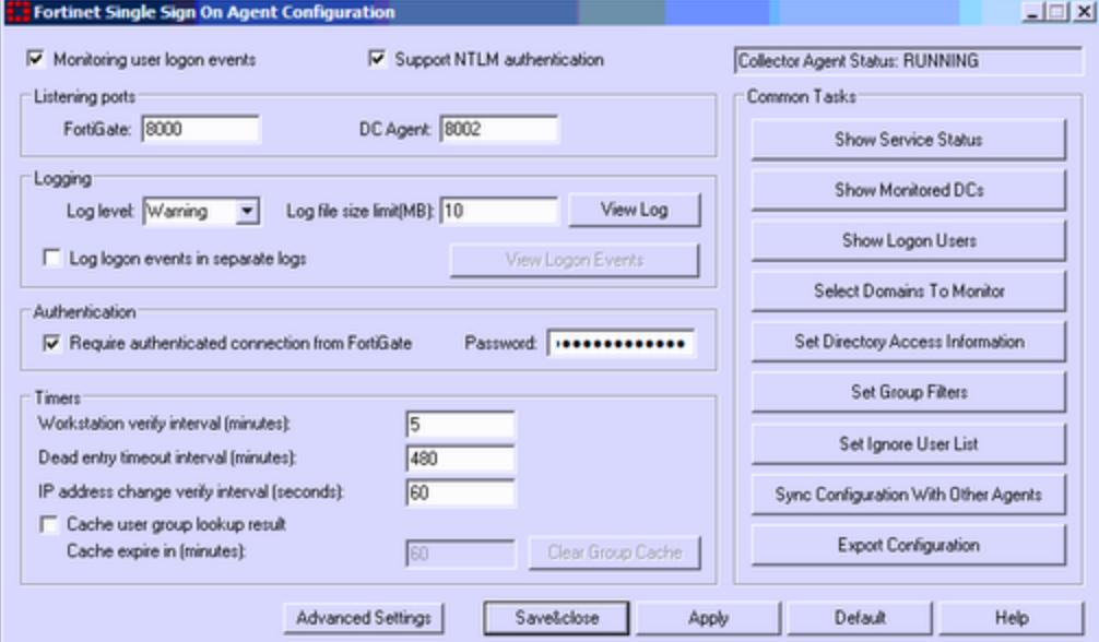 FortiGate Agent Based FSSO AD Integration v5 4 -